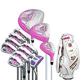 Club de Golf Club de práctica de Golf Putter de Golf Rosado for Damas con Guantes Principiante de Golf for Mujeres Juego de Club de Golf de 12 Piezas para Principiantes y avanzados