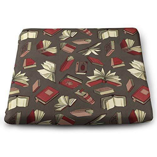 Arehji Books - Cojín de asiento cuadrado suave para decoración de silla