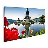 islandburner Bild auf Leinwand Ulun Danu Bratan Tempel Bali