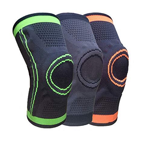 Rodilleras de compresión deportiva para correr ciclismo correa de baloncesto rodilleras rodilleras transpirables antideslizantes rodilleras de compresión de nylon 3D