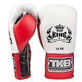 Guantes de Boxeo con Doble Cerradura Color Verde ne/ón KINGTOP Top King