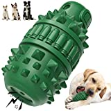 Dog Chew Toys, Tough Dog Toys for Large Medium Breed Dog Durable Squeaky Dental Care Teeth Cleaning Toothbrush Toys (Green)