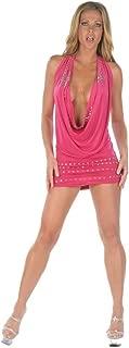 Inc Sexy Party Rhinestones Cowlneck Hot Pink Short Dress