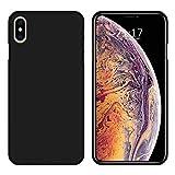 Wephone Accesorios Funda de Silicona y Cristal Templado para Apple iPhone XS MAX Color Negro