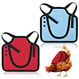 Weewooday 2 Pieces Standard Chicken Saddle Hen Apron Feather Fixer Adjustable Straps for Small, Medium and Large Hens Chicken Jacket Straps Poultry Protector Apron Supplies Hen Protector