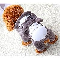 Xiaoyu cachorro cachorro perro mascota ropa de mascotas sudadera abrigo abrigo abrigo cachorro cachorro abrigo abrigo de invierno abrigo perrito traje de moda, gris, XS