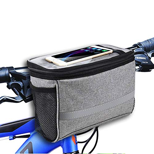 powerful MATTISAM Bicycle Handlebar Bag, Bicycle Basket | Mesh Pocket-Insulation from Cold and Heat-Reflection …