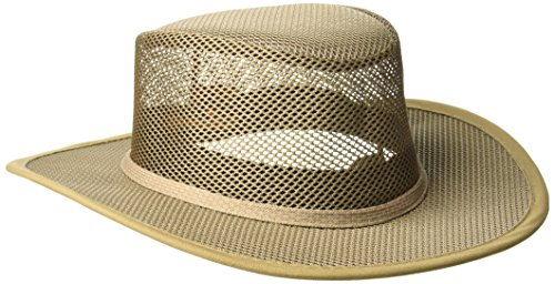 Stetson Men's Mesh Covered Hat, Mushroom, Large