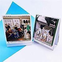 KPOP 1PCS防弾少年団2021デスクカレンダー12ヶ月異なる写真JIMINJ-HOPESUGAファンコレクション