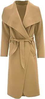T Tahari Womens Abbey Draped Wrap Coat Hazelnut Khaki