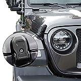 Blocco Cofano Motore Auto Serratura Cappuccio Fermo Fermo con Kit di Blocco Chiave Accessori per Jeep Wrangler JL 2018 2019