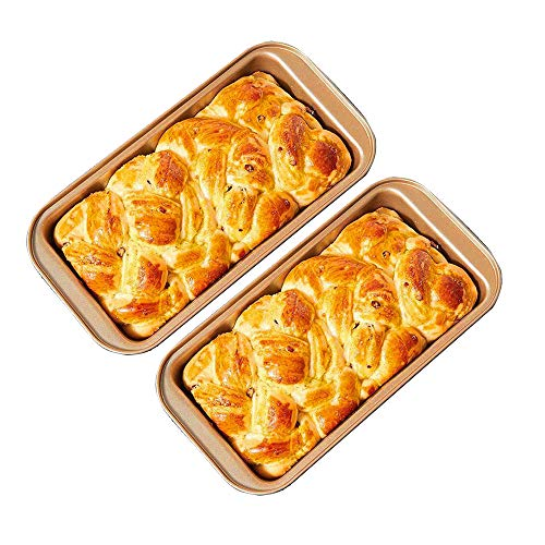 Molde para pan (25 cm, con revestimiento antiadherente, 2 unidades)