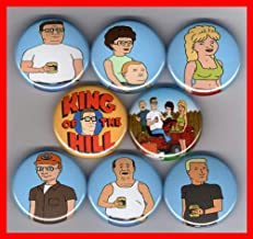 King of the Hill Set of 8 - 1 Inch Magnets