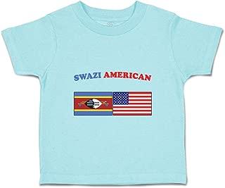 Custom Baby & Toddler T-Shirt Swazi American Cotton Boy Girl Clothes