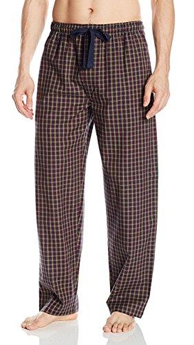 IZOD Men's Yarn-Dye Woven Broadcloth Pajama Pant, Blue/Red Plaid, 3X-Large