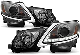 2006-2011 GS300 GS350 HID Xenon Smoke AFS Projector Headlights w/Daytime Running Light Built-in 2007 2008 2009 Pair L+R