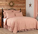 VHC Brands Sawyer Mill Red Tan Quilt Coverlet Cotton Farmhouse Vintage...
