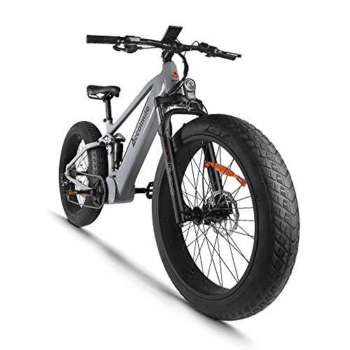 Bicicleta eléctrica para Fat Tire Beach Snow Bicicleta eléctrica de 26 pulgadas,...