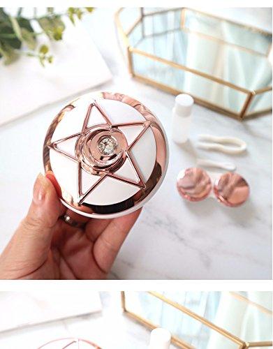 Huertuer – Kontaktlinsenbehälter mit Pentagramm-Muster, für Mädchen, plastik, siehe abbildung, 7.5x3.0cm