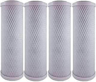 4-Pack Replacement WaterPur CCI-10-CLW Activated Carbon Block Filter | Universal 10 inch Filter for WaterPur Clear Water Filter Housing