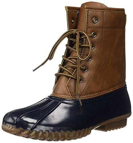 Charles Albert Women's Winter Duck Boots, Mid-Calf, Waterproof Insulated Lace-Up Tan