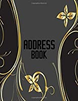 """Address Book: A4 Extra Large At A Glance Address Log Book For Contacts, With Addresses, Phone Numbers, Emails & Birthday. Alphabetical A-Z Organizer ... Women, Teens, Boys, Girls, 8.5""""x11"""" Paperback"""