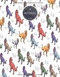 ZMUDACE Notizbuch Liniert: DIN A4 Softcover | 'ZB339 Tyrannosaurus rex' |156 leere Seiten mit persönlichem Register + Seitenzahlen |Schreibheft, ... Schulheft, Dickes Notizheft (German Edition)