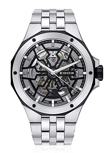EDOX Herren-Armbanduhr Delfin Mecano Analog Automatik 85303 3NM NBG