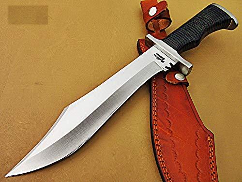 REG-HK-319, Handmade Hi Carbon Steel 15 inches Hunting Knife - Beautiful Two Tone Micarta Handle