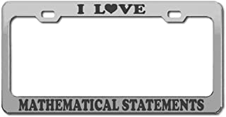 Product Express I Love Mathematical Statements Studying Chrome Engraving License Plate Frame