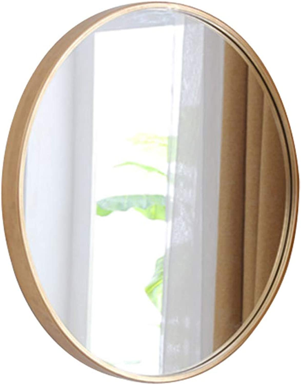 Bathroom Mirror Wall Hanging Mirror Bedroom Makeup Mirror Dressing Mirror Dressing Mirror (color   gold, Size   Diameter 40cm(16inches))