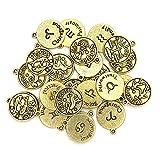 Cousin DIY Zodiac Charm Set, 24 Count, Gold 24 Count
