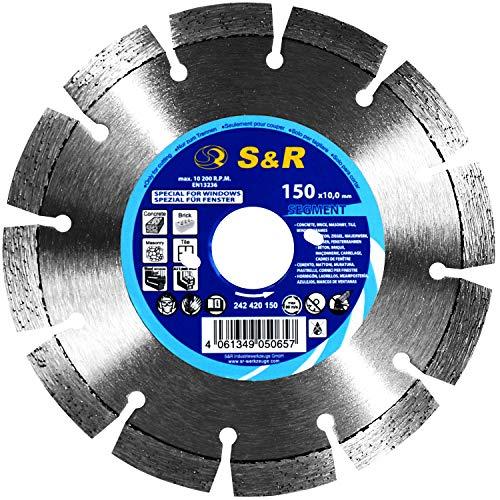 S&R Diamantzaagblad segment voor raamrenovatie met BEPo, aluminium ramen, houten ramen, kunststof ramen, beton, bakstenen, tegels