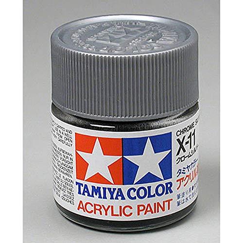 Tamiya America, Inc Acrylic X11 Gloss,Chrome Silver, TAM81011