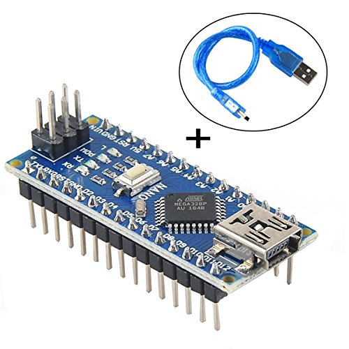 MakerHawk Nano V3.0, Nano board CH340G Chip ATmega328P 5V 16MHz with USB Cable For Arduino