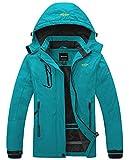 Wantdo Giacca da Ciclismo Sport Giubbotto da Montagna Caldo Cappotto da Escursionismo Outdoor Abbigliamento da Sci Taglia Forti Donna Blu Scuro XXL