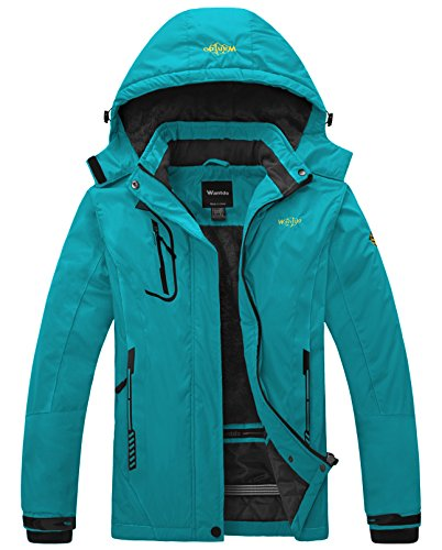 Wantdo Ski Jassen voor Dames Regenjassen Fleece Waterdicht