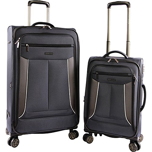 Perry Ellis Luggage Viceroy 2 Piece Set Expandable Suitcase with Spinner Wheels, Navy, One Size