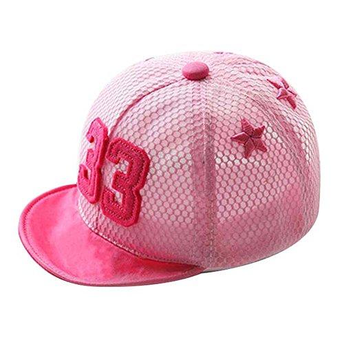 Mode Sunhat Grand cadeau pour bébé chapeau de plage pliable Chapeau d'été Bonnet de coton rose