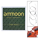 ammoon Full Set Violin Strings Size 4/4 & 3/4 Violin Strings Steel Strings G D A and E Strings High Quality