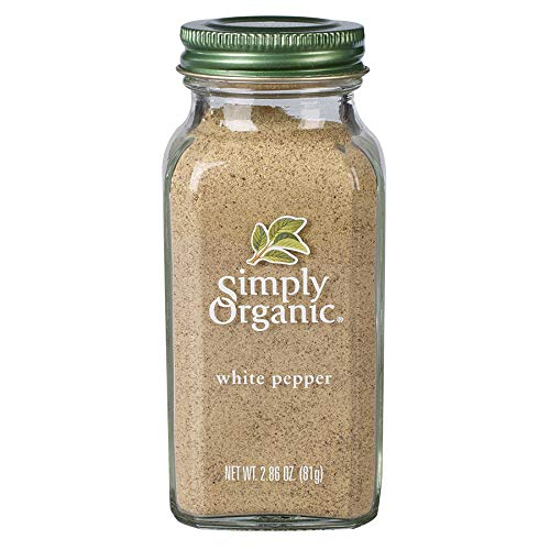 Simply Organic White Pepper, Certified Organic | 2.86 oz | Piper nigrum L.