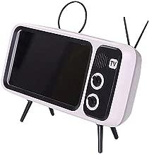Kiode Retro Mobile Phone Holder,Mini Speaker Retro TV Mobile Phone Screen Stand,Retro TV Bluetooth Wireless Speaker Phone Holder