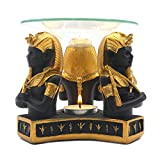 Egyptian Pharaoh King Tutankhamen Tea Light Candle Essential Oil Warmer Aroma Diffuser for Spa Yoga Meditation Home Decoration