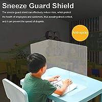 雇用労働者学生のためのバリア5PCS折り畳み式保護くしゃみガードクリアスピットShiled個人の取引の安全性 (サイズ : 35x25x40cm)