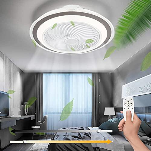 Ventilador de Techo con Control Remoto de luz Ventilador de Techo de 3 Velocidades de viento Temperatura Regulable Luz de Techo Función de Temporizador para el hogar Dormitorio Sala de Estar