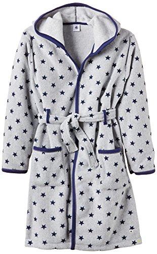 Petit Bateau Soliano - Robe de chambre - À étoiles - Manches longues - Garçon - Grise/Bleue (Subway/Logo) - FR: 6 ans (Taille fabricant: 6 ans)