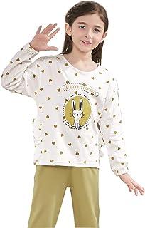 4e0466d86d Pigiama in Cotone per Bambini a Maniche Lunghe in Cotone Principessa Vestiti  per la casa Autunno