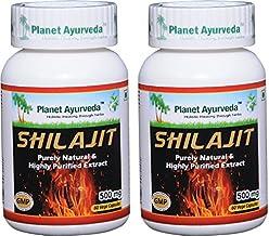 Planet Ayurveda Shilajit Capsules | Antioxidant Fulvic Acid & Trace Minerals Supplement for Immune Support | Improve Vigor...