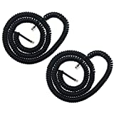 YOLISTIC (Value Pack of 2) Handset Cord Coiled Telephone Phone Cable Black (Coiled Length 1.2 to 10 feet Uncoiled)