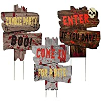 Joyjoz Halloween Outdoor Decorations Yard Signs with Stakes